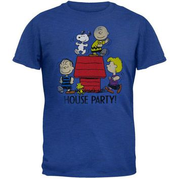 DCCKU3R Peanuts - House Party Adult T-Shirt