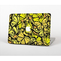 """The Yellow Butterfly Bundle Skin Set for the Apple MacBook Pro 13"""" with Retina Display"""