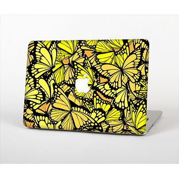 The Yellow Butterfly Bundle Skin Set for the Apple MacBook Pro 15""