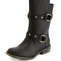 Studded Strap Motorcycle Bootie: Charlotte Russe