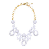 J.Crew Womens Bead Droplet Statement Necklace