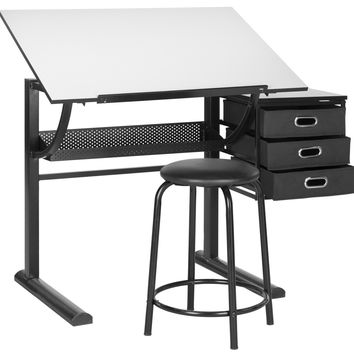Harvard Writing Desk Black & White