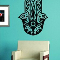 Hamsa Hand Version 8 Decal Sticker Wall Vinyl Art Blessings Power Strength