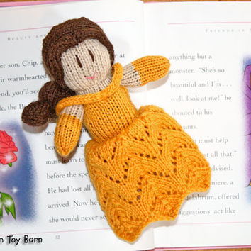 Knitted Princess Doll Belle Beauty and the Beast Disney Inspired Natural Materials Waldorf Toy