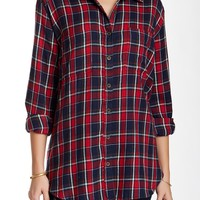 Oversized Plaid Tunic