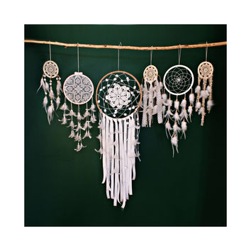 Wedding Dreamcatcher, White Dream Catcher, Large Dreamcatcher, Bohemian Wedding, Large Dream Catcher, Boho wedding Decor, Boho Weddings