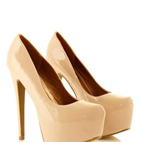 Nude Hidden Platform High Heel Court Shoe at Fashion Union