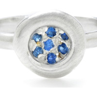 Sapphire Pavé Puddle Ring, Stone & Novelty Rings
