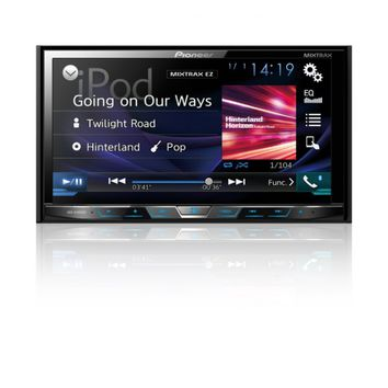 "Pioneer® AVHX4800BS - Double DIN DVD/CD/MP3/WMA/AAC Receiver with 7"" Motorized Display, Bluetooth, Siri Eyes Free, SiriusXM-Ready, Spotify and AppRadio One"