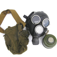 Gas mask Halloween soviet steampunk military carnival collectibles Russian GP7 spooky scary goth gothic