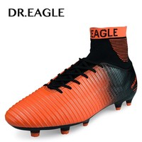 DR.EAGLE Outdoor lawn FG football shoes for men cleats soccer original FOOTBALL WITH ANKLE BOOTS high soccer shoes Sneakers