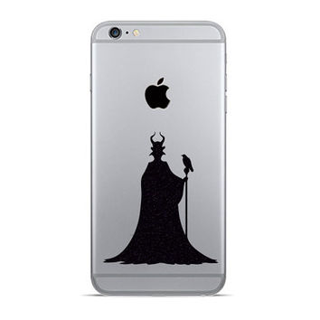 Maleficent Phone Sticker - Galaxy s6 Two Fabric Decals  - 2 Evil Queen iPhone 6 Stickers - Samsung Galaxy s5 Sticker - iPhone 6 Plus Decor