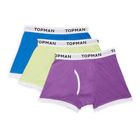 Bright Plain 3 Pack Underwear