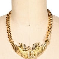 Gold Egyptian Goddess Pendant Necklace