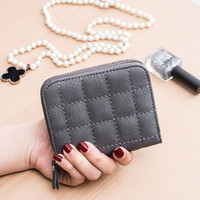 High Quality Famous Brand Women Wallet 2016 zipper poucht Purse Clutch Lady Small Bag PU Leather Purse