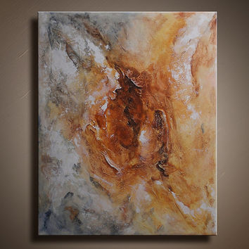 Original Abstract Textured Painting on Canvas Contemporary Fine Art Ready to Hang