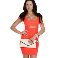 Neon Coral Sparks Will Fly Dress