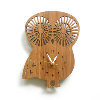 Owl clock, modern clock, animal clock