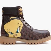 Moschino Looney Tunes Leather Hiking Boot ($795) Size 37