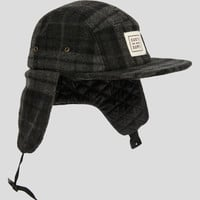 SheShreds Black Plaid Bomber Hat