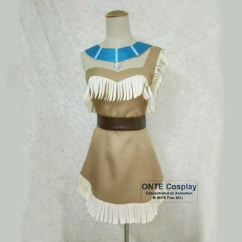 Anime Pocahontas Cosplay Costumes Indian Squaw Cowgirl Princess Women Fancy Party Dress for Halloween Custom Made