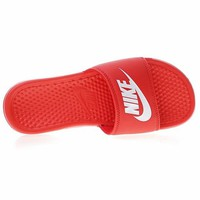 "Nike Benassi Just Do It Beach Slipper Sandals ""Red"" 343881-818"