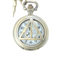 Harry Potter The Deathly Hallows Pocket Watch Necklace