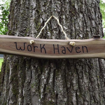 Custom/ fathers day/ wood sign/ workhaven/ door sign/ personalized sign