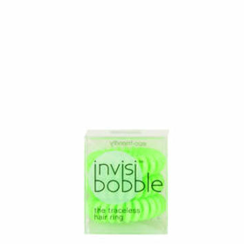 Pack of Three Invisibobble Hair Ties - Techno Green