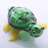 green fashion turtle glass pipes novelty glass smoking pipe animal glass pipes totally cool