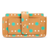 Women's Polka Dot Cell Phone Case Wallet - Brown : Target
