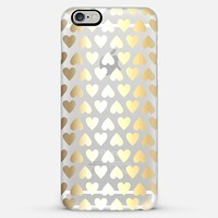 Faux Gold Hearts - on shine through transparent iPhone 6 Plus case by Perrin Le Feuvre | Casetify