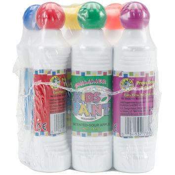 Kid's Scented Shimmer Paint Markers 1.4oz 6/Pkg-Assorted Scents & Colors