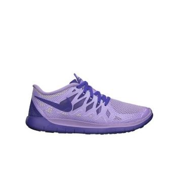 Nike Free 5.0 3.5y-7y Girls' Running Shoes - Hydrangeas