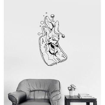 Wall Decal Playing Card Joker Jester Passion Play Poker Vinyl Sticker Unique Gift (ed625)