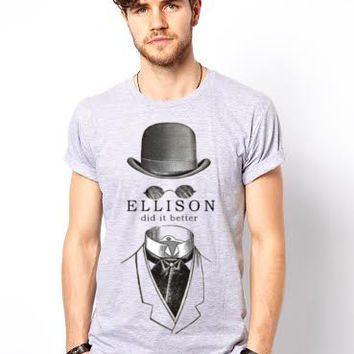 Ellison Hipster T-Shirt, Invisible Man Graphic Tee, Steampunk Tee, Cool T-Shirt, Unisex Graphic, Made in the USA, Gift Ideas, Best T-Shirts