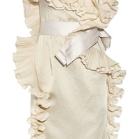 Lanvin - Ruffled satin dress