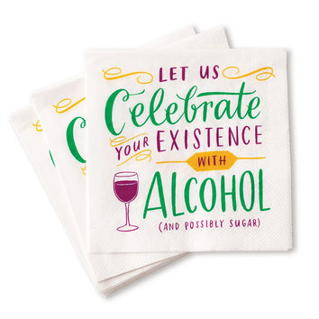 Celebrate Existence with Alcohol Napkins