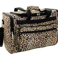 World Traveler 16 Inch Duffle Bag, Leopard, 16 Inch