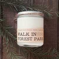 Walk in Forest Park Wood Wick Candle