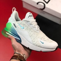 Nike Air Max 270 White/Explosion Green-Yellow - Best Deal Online
