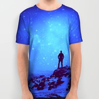 Lost the Moon While Counting Stars III All Over Print Shirt by Soaring Anchor Designs