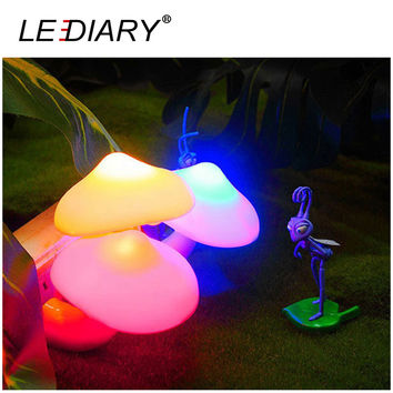LEDIARY LED Mushroom Night Light US EU Plug Sensing Control Yellow Blue Green Red Colorful Lighting Christmas Valentine Gift