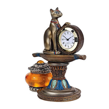 Park Avenue Collection Bastets Egyptian Altar Clock