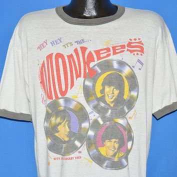 80s The Monkees 20th Anniversary Tour t-shirt Large