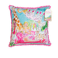 Large Indoor/Outdoor Pillow - Zoo Party - Lilly Pulitzer