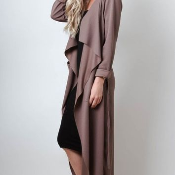 Splash Waterfalls Duster Trench Coat