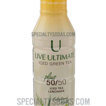 Live Ultimate Organic Iced Green Tea plus 50/50 Iced Tea Lemonade 12oz Plastic Bottle