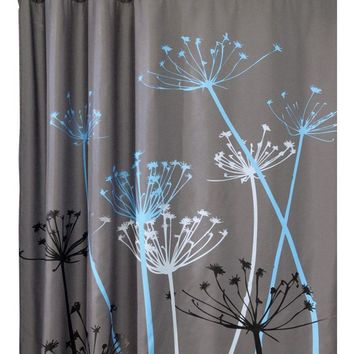 Modern PEVA Multi-Color Dandelion Pattern 3D Waterproof Polyester Shower Curtain Bathroom rideau de douche bathroom curtain