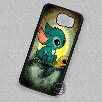 Lilo And Stitch Stained Glass Turtle - Samsung Galaxy S7 S6 S5 Note 7 Cases & Covers
